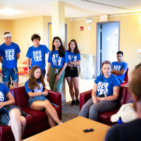 VIU Student Orientation Building meeting