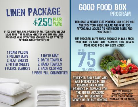 Linen and Good food box adverts